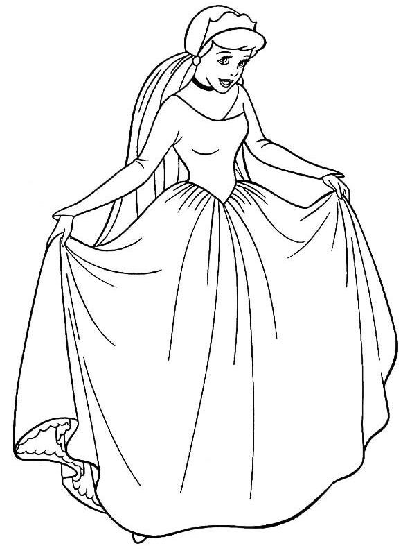 The Cinderella Coloring Page