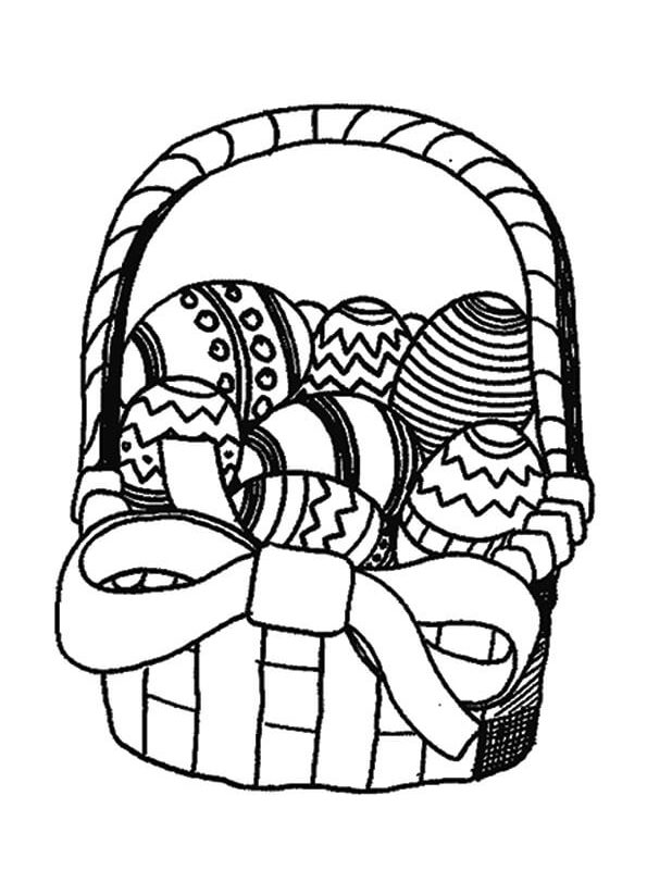 The Easter Basket Printable Coloring Pages