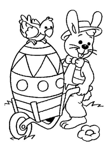 The Easter Egg Cart Coloring Page